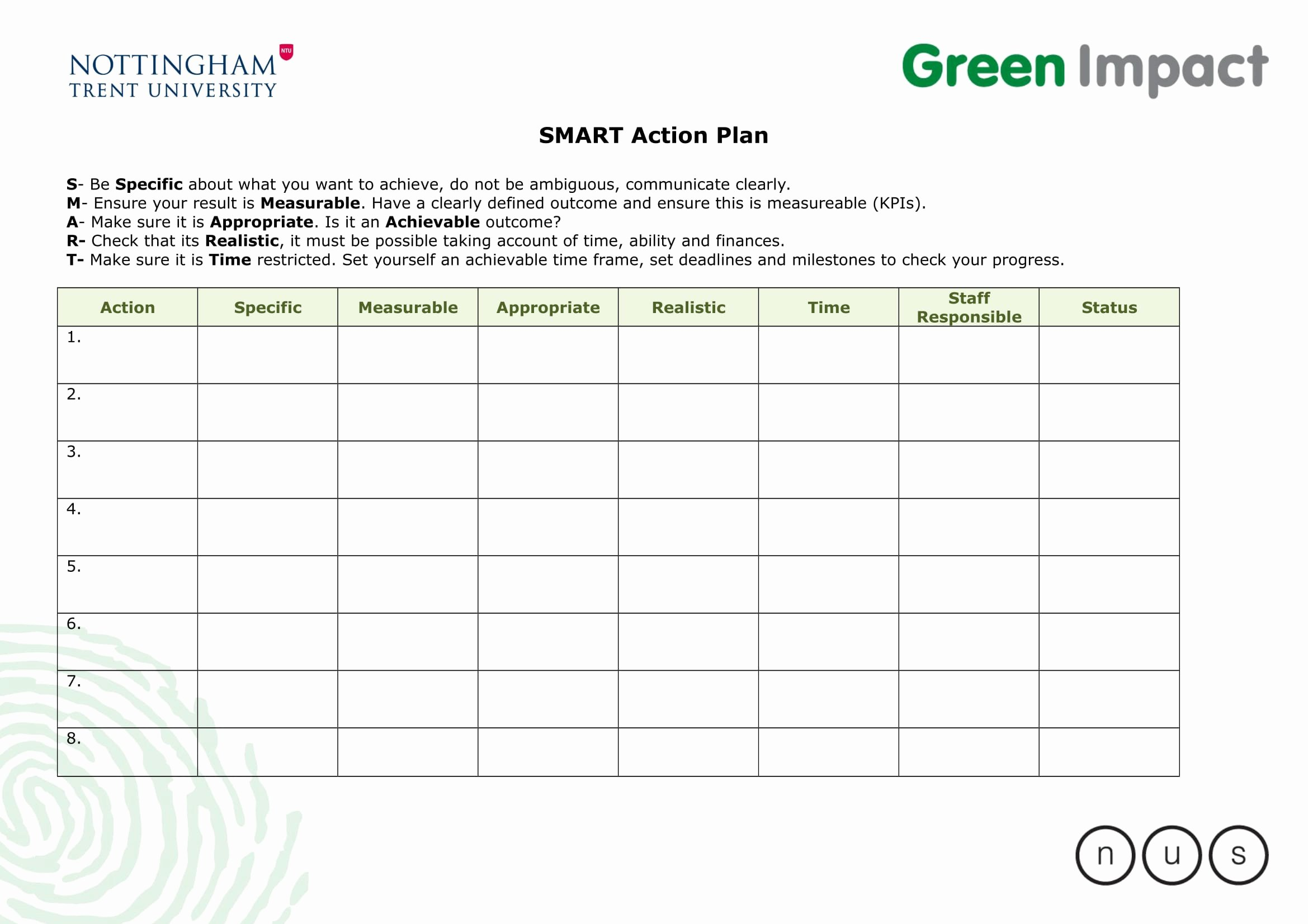 Smart Action Plans Template Inspirational 10 Smart Action Plan Examples Doc