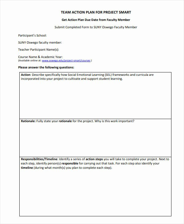 Smart Action Plans Template New 11 Smart Action Plan Templates Pdf Word