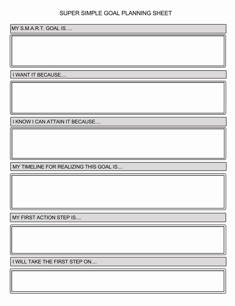 Smart Goals Template Excel Beautiful Free Smart Goals Worksheets & Templates Excel