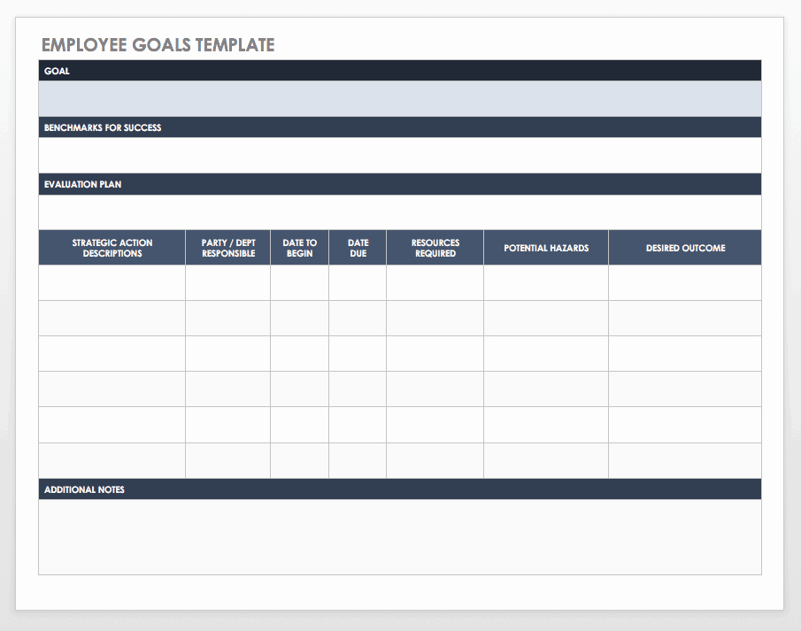 Smart Goals Template Excel Best Of Free Goal Setting and Tracking Templates