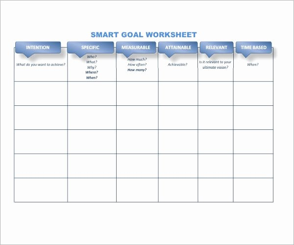 Smart Goals Template Excel Best Of Smart Goals Template 15 Download Free Documents In Pdf