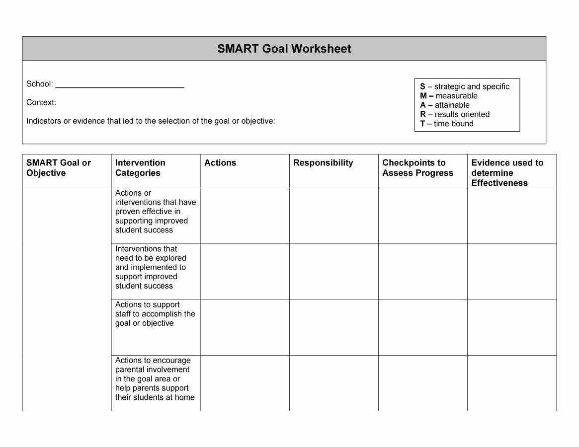Smart Goals Template Excel Fresh 48 Smart Goals Templates Examples & Worksheets Template Lab