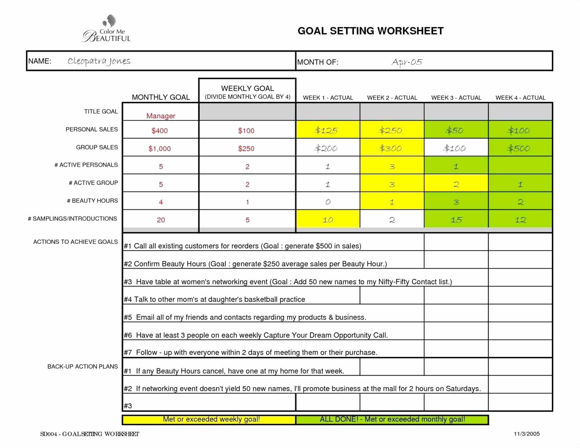 Smart Goals Template Excel Fresh Smart Goals Template Excel