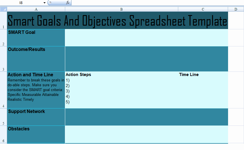 Smart Goals Template Excel Lovely Get Project Munication Plan Template Spreadsheet