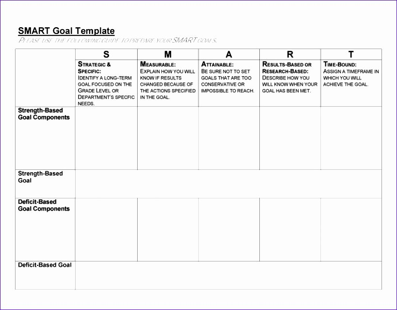 Smart Goals Template Excel Luxury 10 Smart Goals Template Excel Exceltemplates