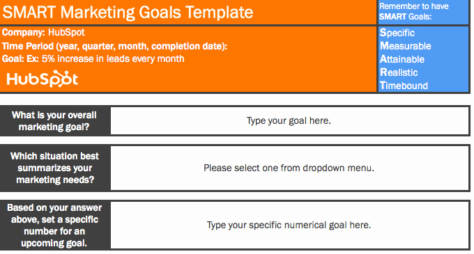 Smart Goals Template Excel New 9 Free Microsoft Excel Templates to Make Marketing Easier