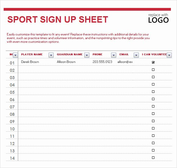 Snack Sign Up Sheet Template Awesome Sign Up Sheet Template 10 Free Samples Examples format