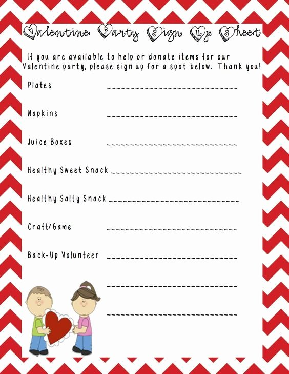 Snack Sign Up Sheet Template Best Of A Sample Class Party Sign Up Sheet that I Made