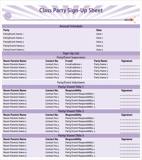 Snack Sign Up Sheet Template Best Of Sign Up Sheet Template 10 Free Samples Examples format