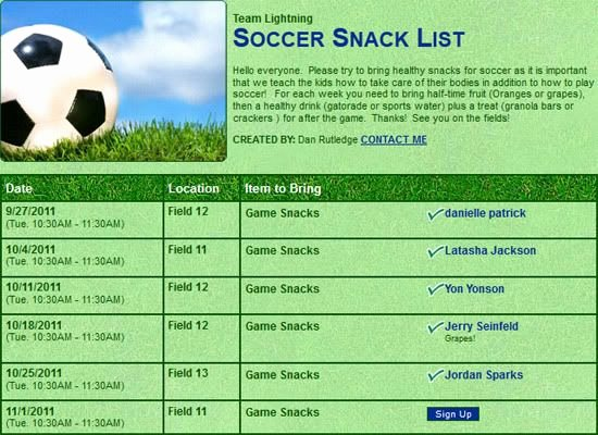 Snack Sign Up Sheet Template Unique Signupgenius Helping You Create Group Sign Up Lists