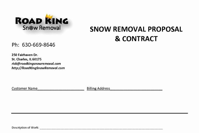 Snow Removal Contract Templates Fresh 20 Snow Plowing Contract Templates Free Download