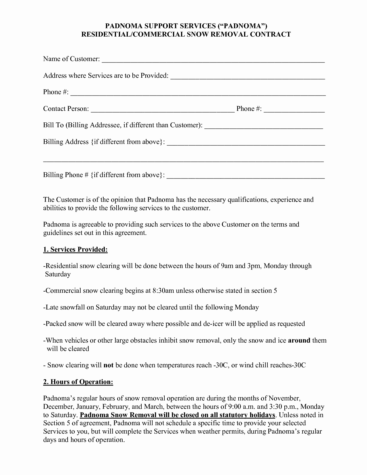 Snow Removal Contract Templates Luxury 100 Contract Negotiation Letter are Fer Letter