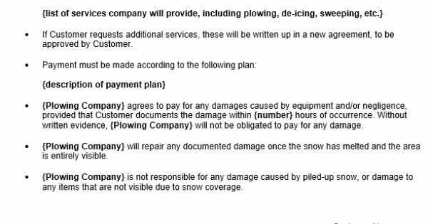 Snow Removal Contracts Template Lovely Free Snow Removal Contract Template