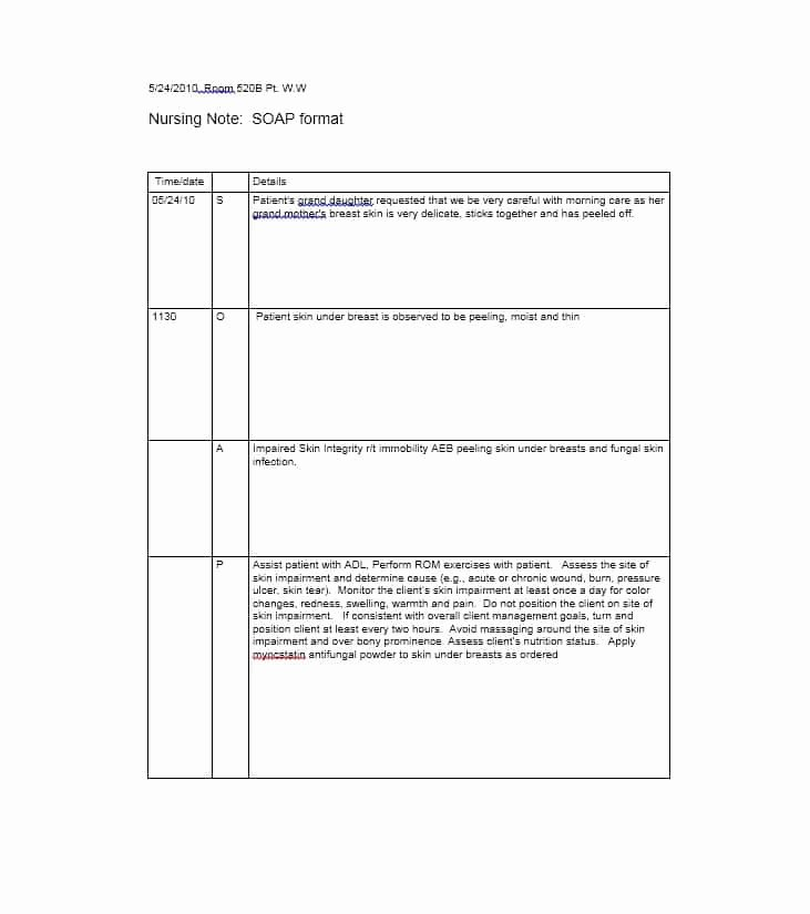 Soap Note Template Pdf Fresh 40 Fantastic soap Note Examples & Templates Template Lab