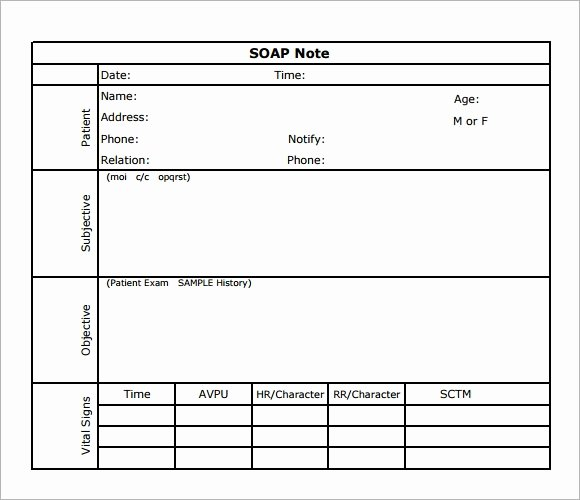 Soap Note Template Pdf New soap Note Template 7 Download Free Documents In Pdf