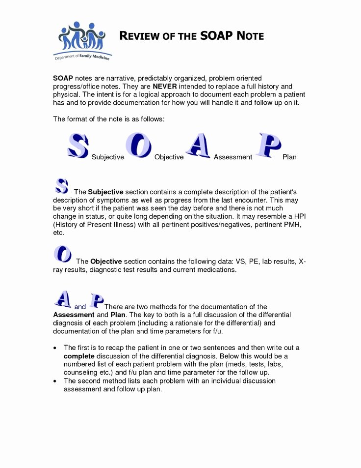 Soap Note Template Pdf Unique soap Note Template Counseling Google Search