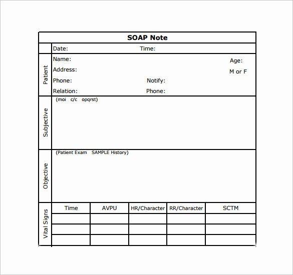 Soap Note Template Word Awesome soap Note Example 12 Free Samples Examples format