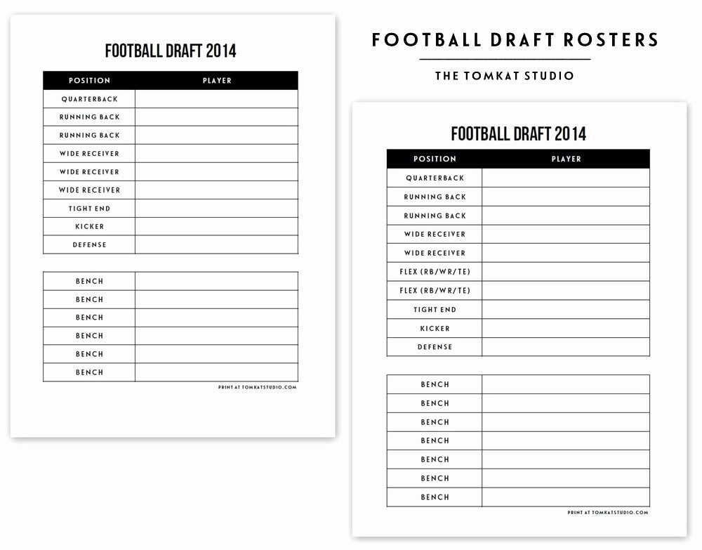 Soccer Team Roster Template Luxury Free Printable Football Roster