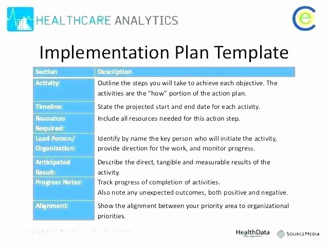 Software Implementation Plan Template Awesome Server Migration Checklist Template Excel