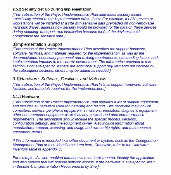 Software Implementation Plan Template New 12 Implementation Plan Templates Pdf Word Google Docs