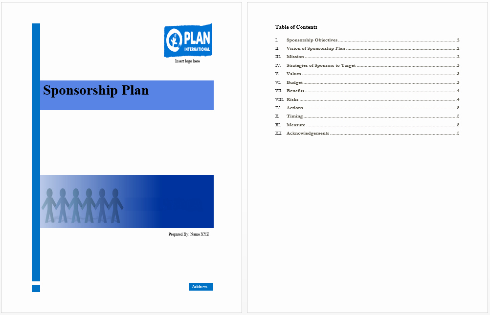 Sponsorship form Template Word Best Of Sponsorship Plan Template Microsoft Word Templates