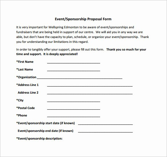 Sponsorship form Template Word Elegant Sponsorship form Template