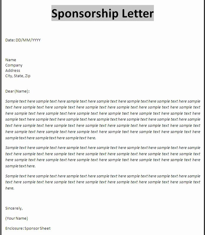 Sponsorship form Template Word Lovely Sponsorship Proposal Template