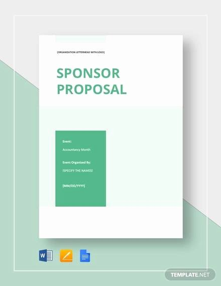 Sponsorship form Template Word Luxury Free 17 Sample Sponsorship Proposal Templates In Google
