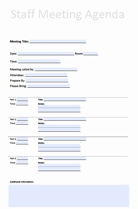 Staff Meetings Agenda Template Elegant Printable Template Staff Meeting Minutes to