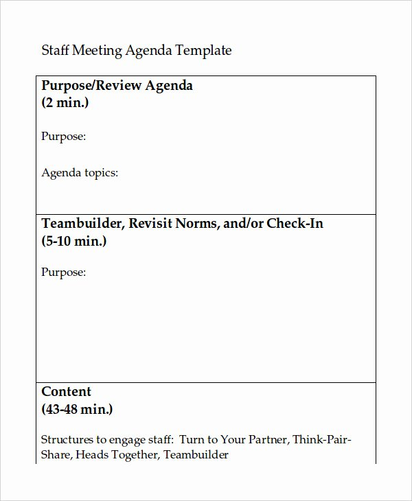 Staff Meetings Agenda Template Lovely Word Agenda Template 6 Free Word Documents Download