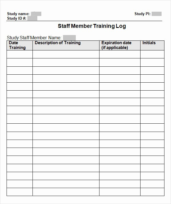 Staff Training Plan Template Awesome Employee Training Record Template Excel