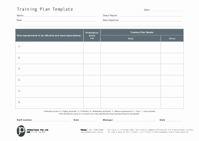 Staff Training Plan Template Elegant Jpabusiness Staff Training Plan Template