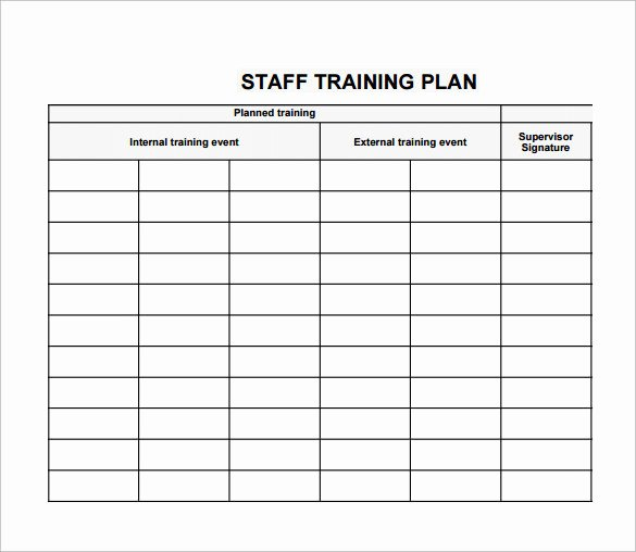 Staff Training Plan Template Inspirational Employee Training Plan Template Excel Business Letter