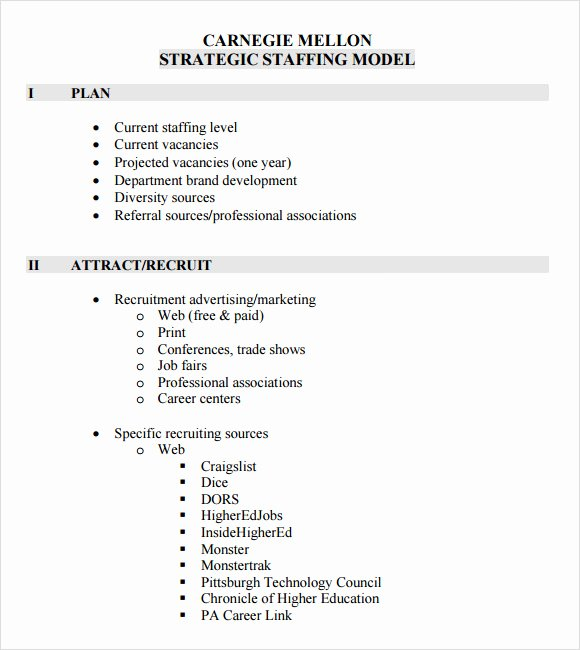 Staffing Plan Template Excel Awesome Sample Staffing Model 6 Documents In Pdf Excel