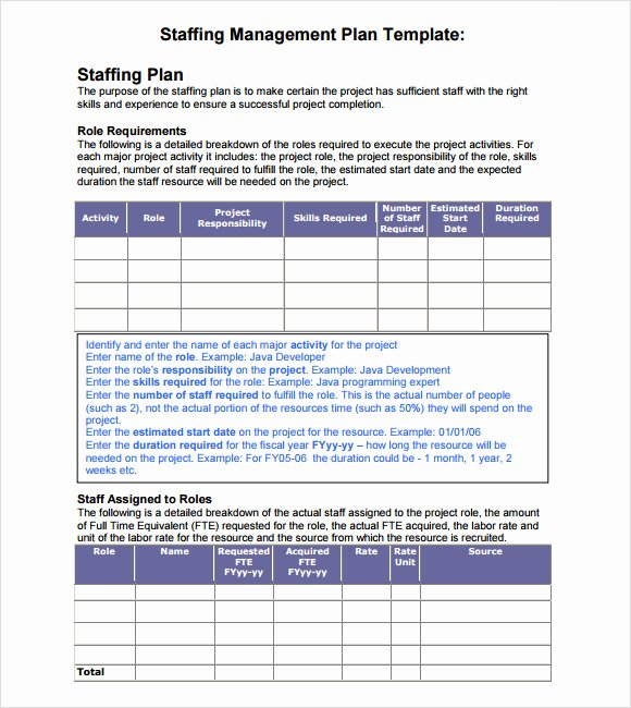 Staffing Plan Template Excel Fresh Sample Staffing Model 6 Documents In Pdf Excel
