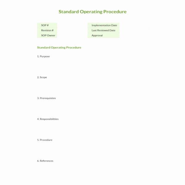 Standard Operating Procedure Template Free New 13 Standard Operating Procedure Templates Pdf Doc