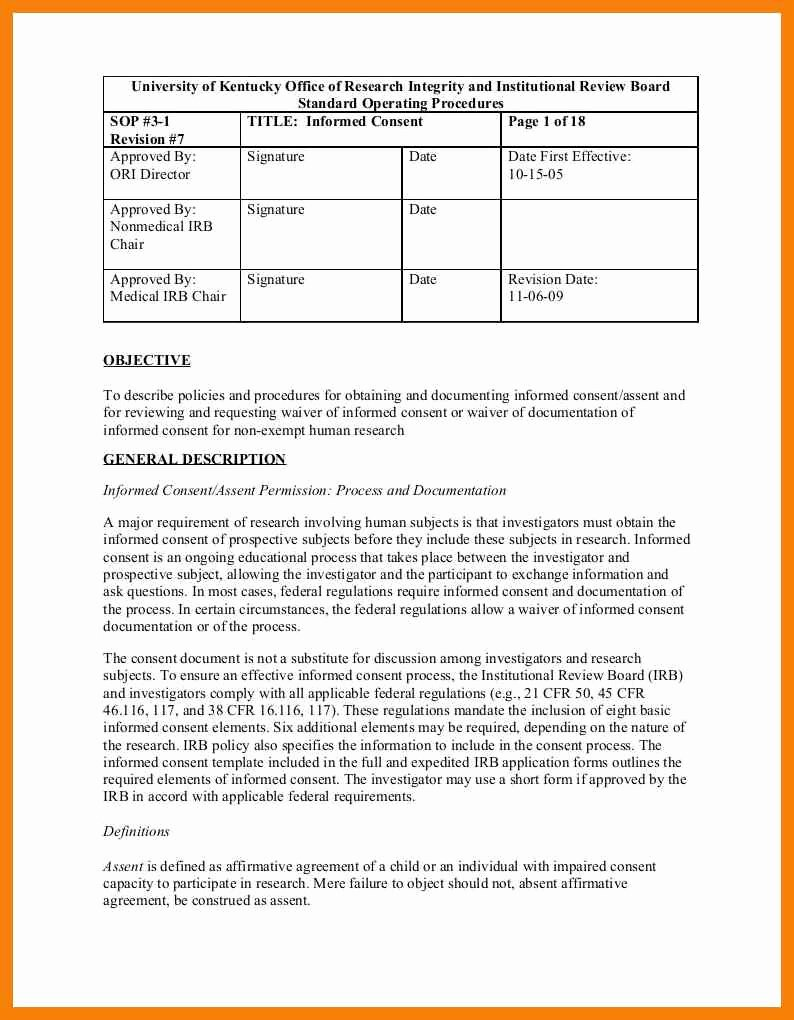 Standard Operating Procedure Template Word New Awesome Standard Operating Procedures Template