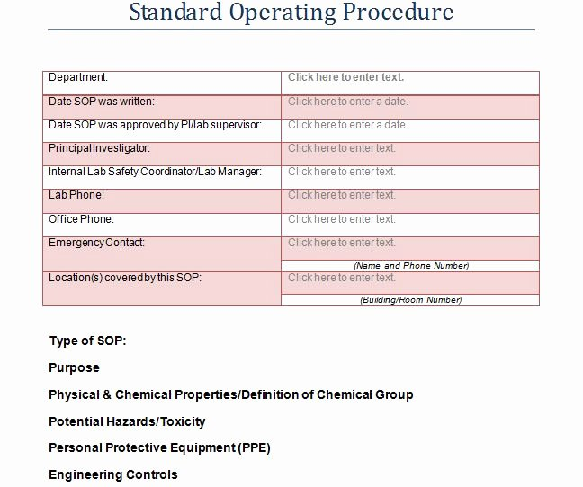 Standard Operating Procedures Template Word Best Of 37 Best Standard Operating Procedure sop Templates