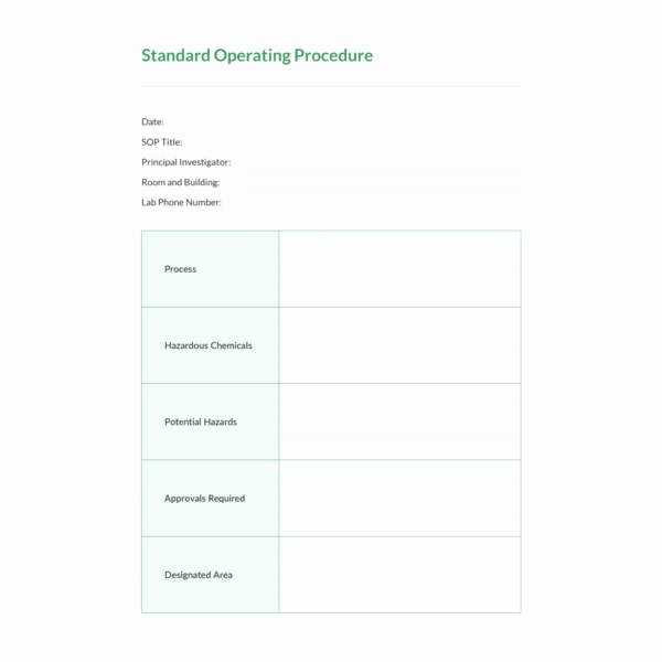 Standard Operating Procedures Template Word New 13 Standard Operating Procedure Templates Pdf Doc