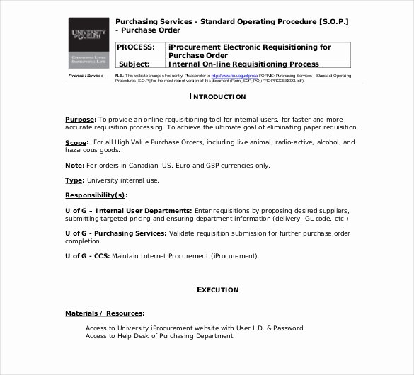 Standard Operating Procedures Template Word Unique 13 Standard Operating Procedure Templates Pdf Doc