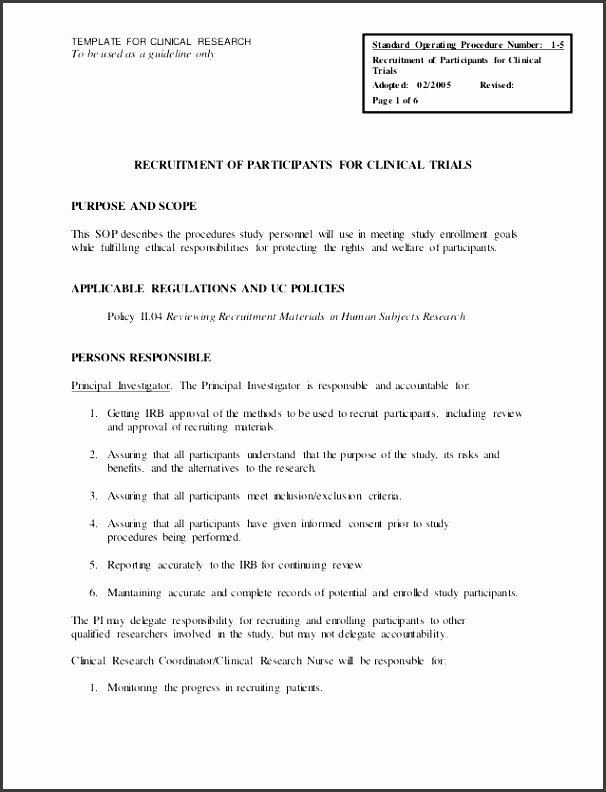 Standard Operating Procedures Template Word Unique 6 Ms Word Standard Operating Procedure Template