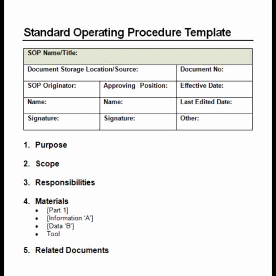 Standard Operating Procedures Templates Word Awesome 4 Facts About Standard Operating Procedure
