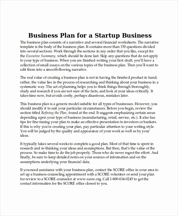 Startup Business Plan Template Awesome Business Plan Templates 14 Free Word Pdf Document