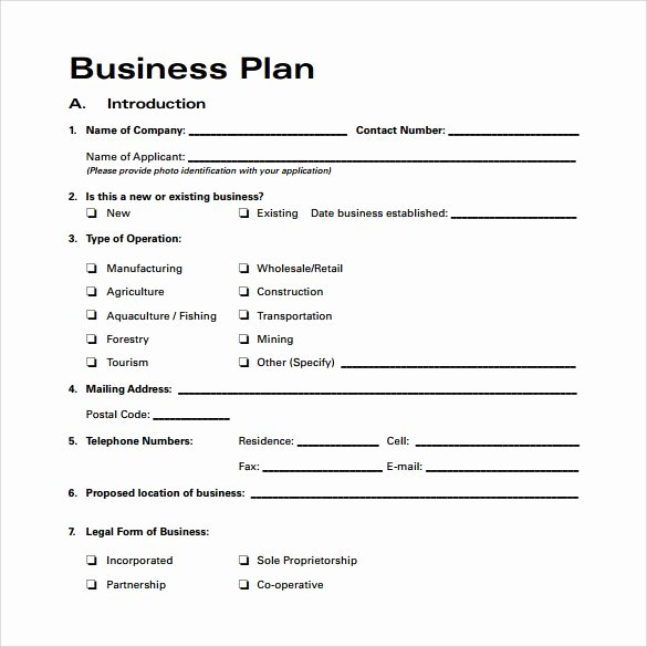 Startup Business Plan Template Unique Startup Business Plan Template Pdf