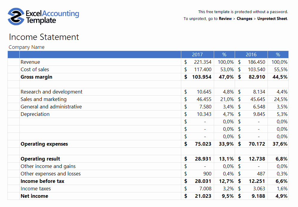 Statement Of Account Template Beautiful Free Accounting Templates In Excel for Your