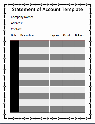 Statement Of Account Template Inspirational Ficial Statement Of Accounts Template