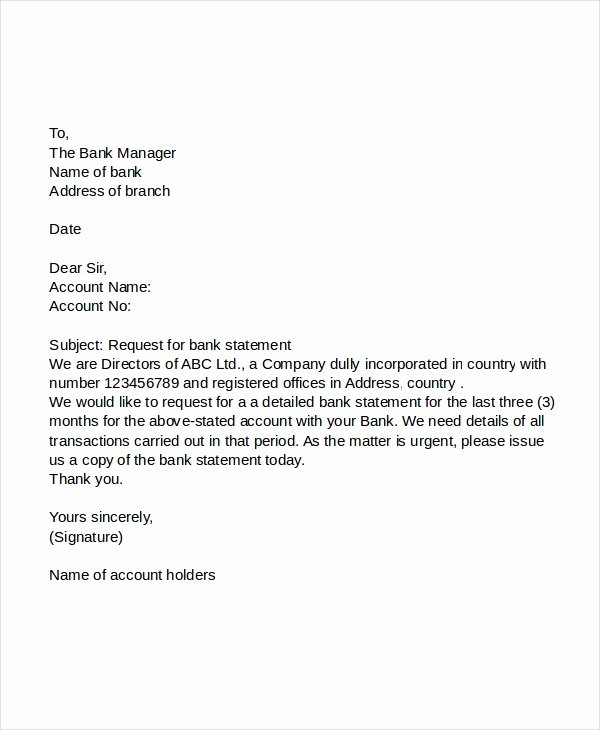 Statement Of Account Template Unique 47 Request Letter Template Word Google Docs Apple
