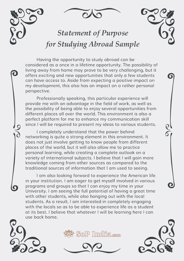 Statement Of Purpose Template Elegant What are some Tips for Writing A Statement Of Purpose for