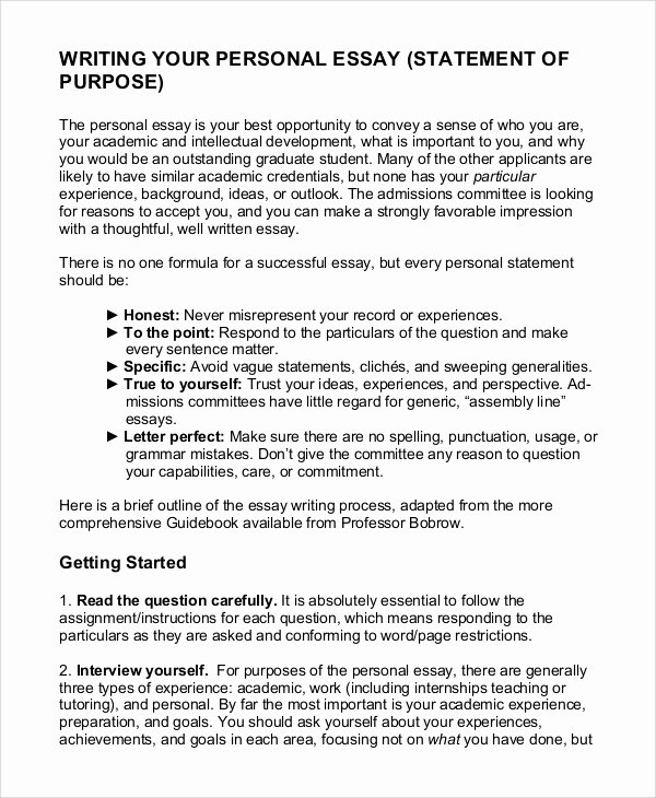 Statement Of Purpose Template New 11 Statement Of Purpose Samples Pdf Word