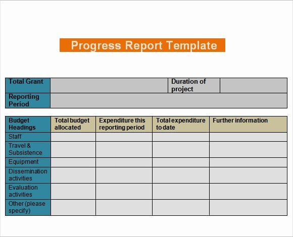 Status Report Template Word Awesome Free 10 Sample Progress Reports In Example formats Pdf